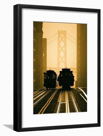 Cable Cars, San Francisco-Mitchell Funk-Framed Photographic Print