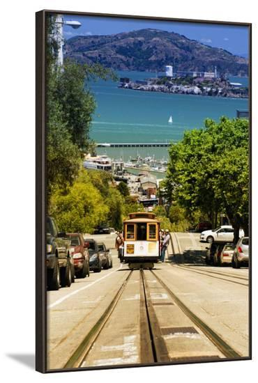 Cable Cars - Streets - Downtown - San Francisco - Californie - United States-Philippe Hugonnard-Framed Photographic Print