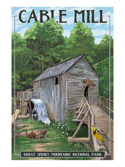 Cable Mill - Great Smoky Mountains National Park, TN-Lantern Press-Art Print