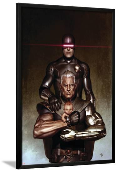 Cable No.6 Cover: Cyclops and Cable-Adi Granov-Lamina Framed Poster