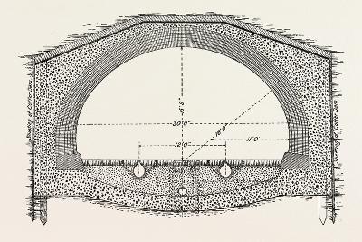Cable Railway Tunnel under River Near Van Buren Street--Giclee Print