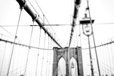 Cables Suspended from the Brooklyn Bridge-Kike Calvo-Premium Photographic Print