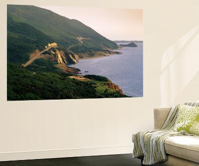 Cabot Trail Along Coastline, Cape Rouge, Cape Breton, Nova Scotia, Canada-Walter Bibikow-Wall Mural