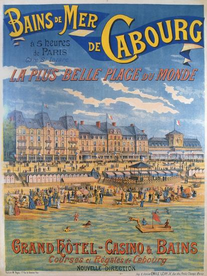 Cabourg Poster-Emile Levy-Giclee Print