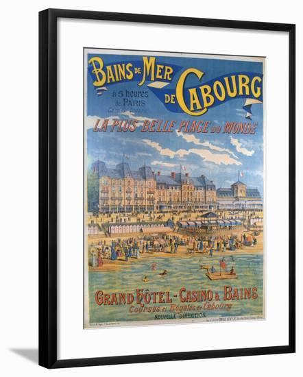 Cabourg Poster-Emile Levy-Framed Giclee Print