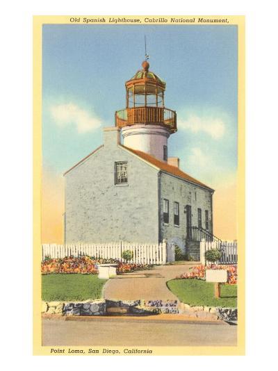 Cabrillo Lighthouse, Point Loma, San Diego, California--Art Print