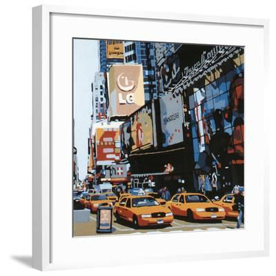 Cabs of New-York III-Giovanni Manzo-Framed Art Print