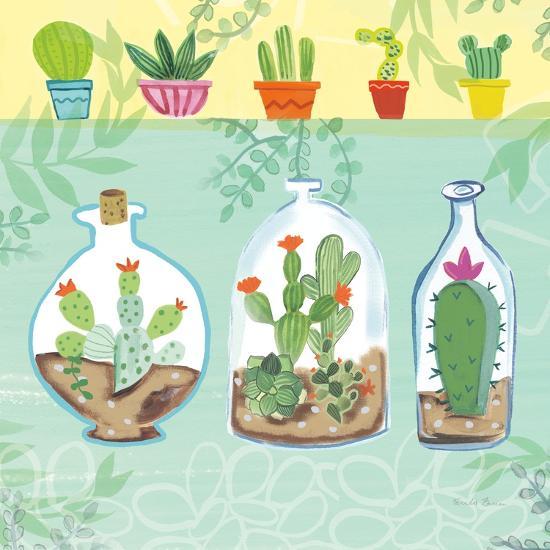 Cacti Garden I no Birds and Butterflies-Farida Zaman-Art Print