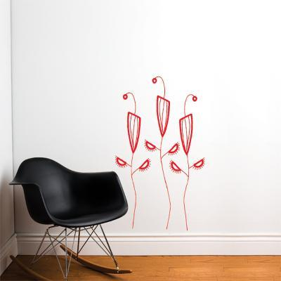 Cactus Flowers Wall Decal--Wall Decal