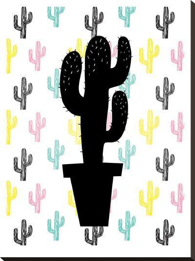 Cactus on Cactus-Ashlee Rae-Stretched Canvas Print