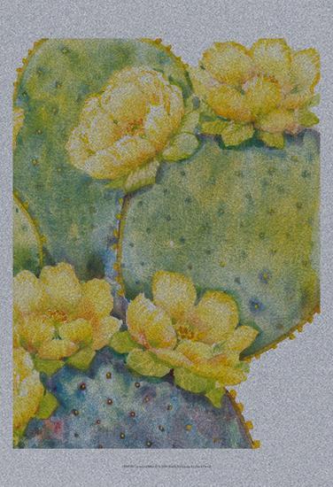 Cactus on Silver II-Tim O'toole-Art Print