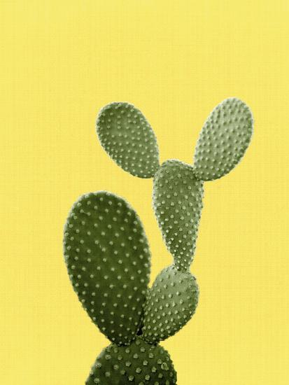 Cactus On Yellow-LILA X LOLA-Art Print