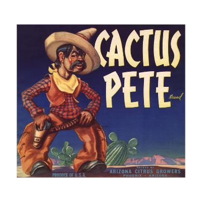 Cactus Pete Brand - Phoenix, Arizona - Citrus Crate Label-Lantern Press-Art Print