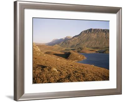 Cadair Idris Mountain and Gregennen Lake, National Trust Area, Snowdonia National Park, Wales-Duncan Maxwell-Framed Photographic Print