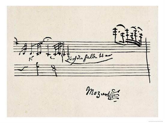 Cadenza, with Mozarts Signature--Premium Giclee Print