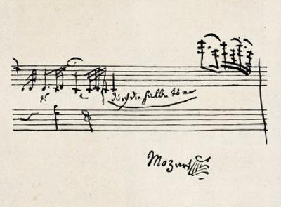 Cadenza, with Mozarts Signature