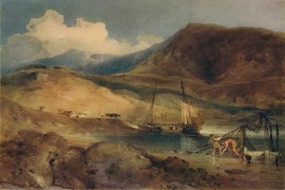 Cader Idris, from Barmouth Sands, c1833-John Sell Cotman-Giclee Print