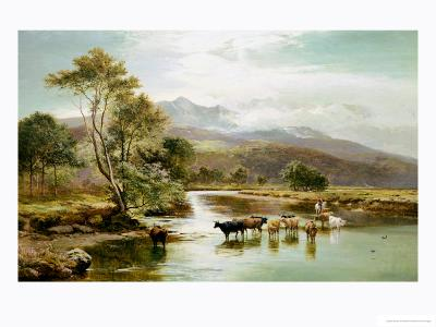 Cader Idris from the River Mawddach-Sidney Richard Percy-Giclee Print