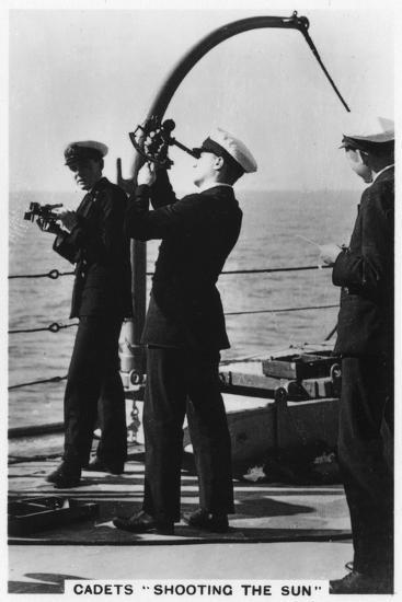 Cadets 'Shooting the Sun, Royal Navy College, 1937--Giclee Print