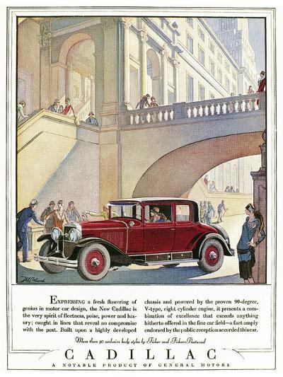 Cadillac Ad, 1928-J^M^ Cleland-Giclee Print