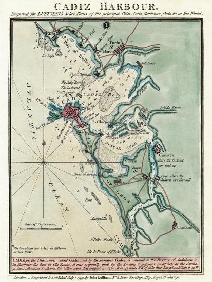 Cadiz Harbor-John Luffman-Giclee Print