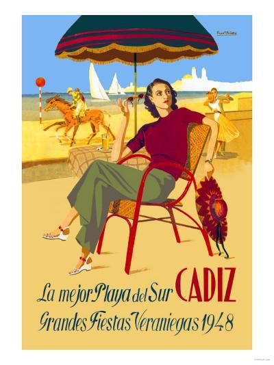 Cadiz, La Mejor Playa del Sur--Art Print