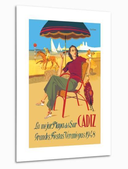 Cadiz, La Mejor Playa del Sur--Metal Print