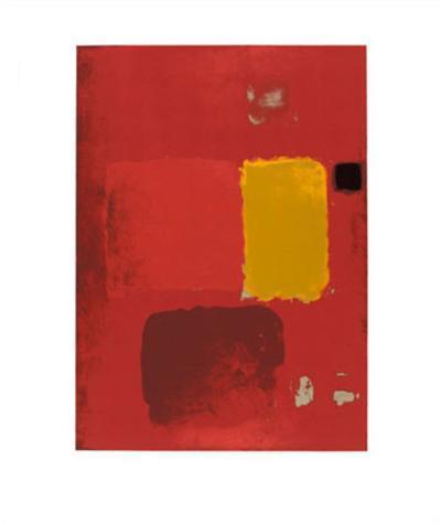 Cadmium Painting-Patrick Heron-Serigraph
