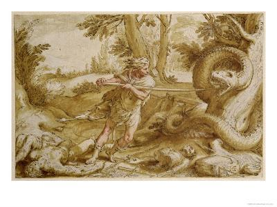 Cadmus About to Attack a Dragon-Hendrik Goltzius-Giclee Print