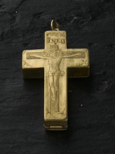 Cadran solaire équinoxial en forme de croix reliquaire-Adrien Zeelst-Giclee Print