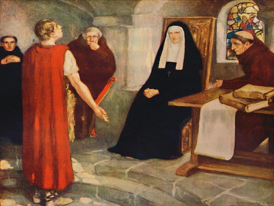'Caedmon before Saint Hilda', 1912-Unknown-Giclee Print