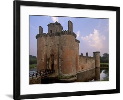 Caerlaverock Castle Dating from the 13th Century, Near Dumfries, Dumfries and Galloway, Scotland-Patrick Dieudonne-Framed Photographic Print