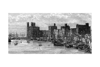 Caernarfon Castle, Gwynedd, Wales, 19th Century- Benoist-Giclee Print