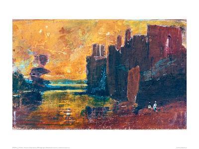 Caernarvon Castle at Sunrise, 1798-J^ M^ W^ Turner-Giclee Print