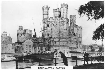 Caernarvon Castle, Caernarfon in North Wales, 1936--Giclee Print