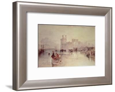 Caernarvon Castle-J^ M^ W^ Turner-Framed Giclee Print