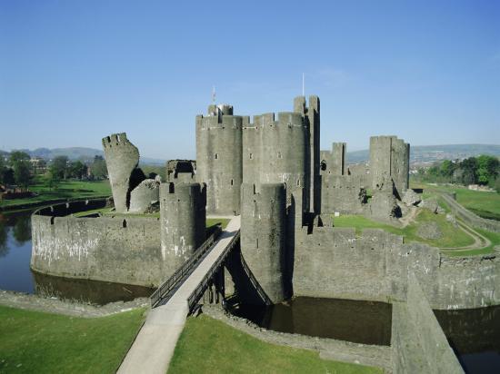 Caerphilly Castle, Glamorgan, Wales, UK, Europe-Adina Tovy-Photographic Print