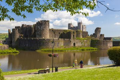 Caerphilly Castle, Gwent, Wales, United Kingdom, Europe-Billy Stock-Photographic Print