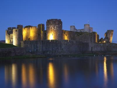 Caerphilly Castle, Mid Glamorgan, Wales, United Kingdom, Europe-Billy Stock-Photographic Print