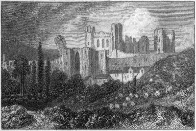 Caerphilly Castle, Wales, 19th Century--Giclee Print
