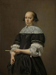 Portrait of Elisabeth Van Kessel, Wife of Willem Jacobsz Baert by Caesar Boetius van Everdingen