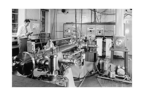 Caesium Atomic Clock-National Physical Laboratory-Giclee Print