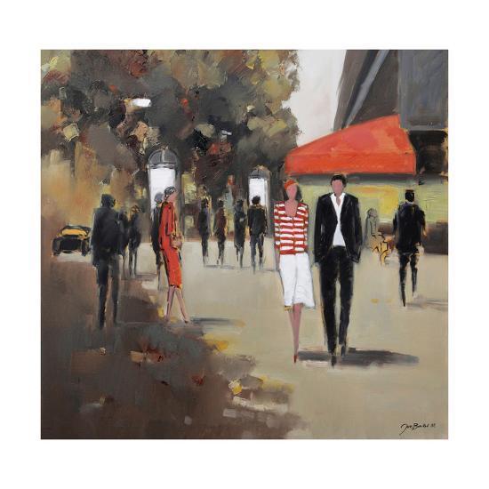 Caf» De La Paix - Paris-Jon Barker-Giclee Print