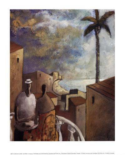 Caf en la tarde-Didier Lourenco-Art Print