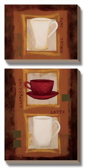 Caf? Jazz-Rita Vindedzis-Canvas Art Set