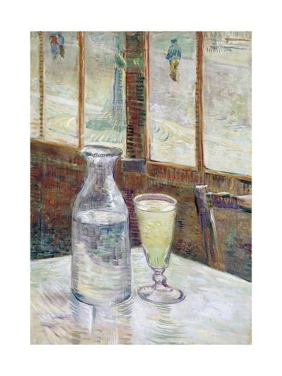 Caf' Table with Absinthe-Vincent van Gogh-Giclee Print