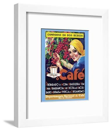 Café (Coffee) - Rio De Janeiro, Brazil--Framed Art Print