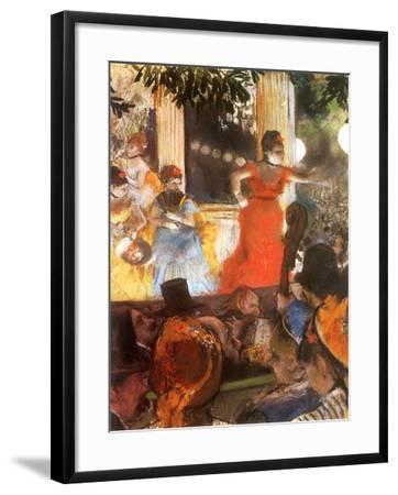 Café Concert, 1876-Edgar Degas-Framed Giclee Print