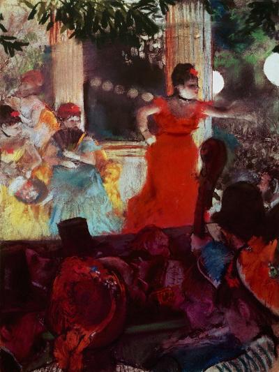 Cafe Concert Aux Ambassadeurs-Edgar Degas-Giclee Print