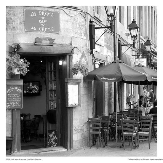 Café crème de la crème-Carl Ellie-Art Print